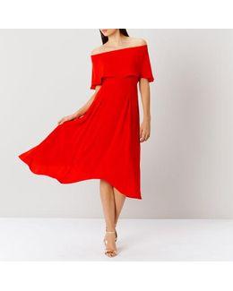 Brooke Bandeau Frill Midi Dress