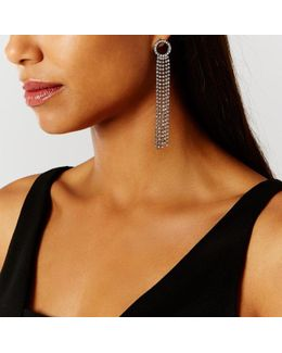 Kyoni Circle Tassel Earrings