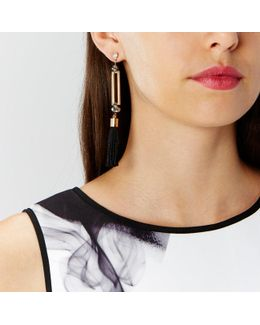 Lia Tassel Statement Earrings