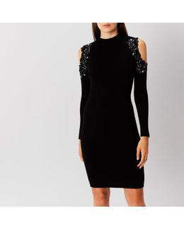 Fallon Embellished Knit Dress