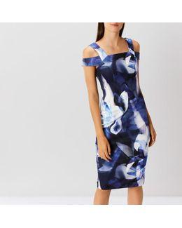 Idole Printed Scuba Dress