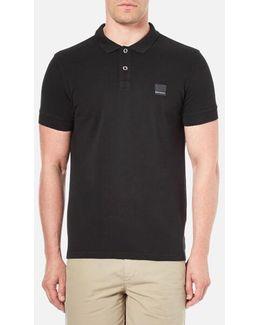 Men's Pascha Slim Block Branded Polo Shirt