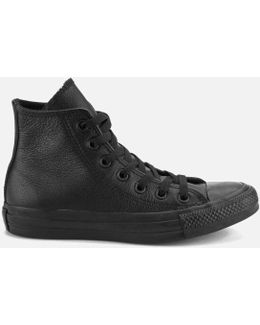 Unisex Chuck Taylor All Star Leather Hitop Trainers