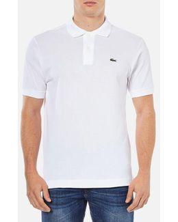 Men's Basic Pique Short Sleeve Polo Shirt