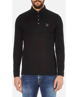 Men's Standards Long Sleeve Embroidered Polo Shirt