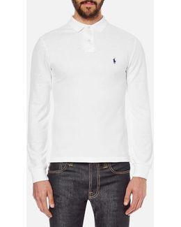 Men's Slim Fit Long Sleeved Polo Shirt