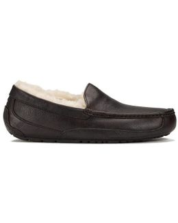 Men's Ascot Moc-toe Leather Slippers