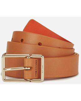 Women's Leather Contrast Belt