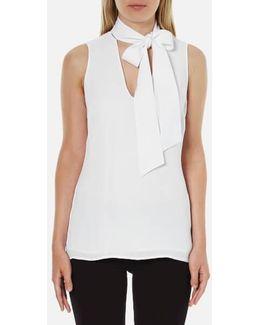 Women's Tie Neckline Top