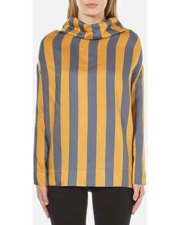 Women's Long Sleeve Fold Blouse