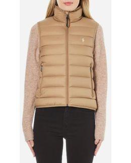 Women's Lightweight Nylon Puffa Vest Jacket