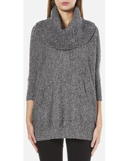 Women's Cowl Neck Poncho