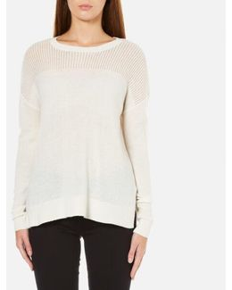 Women's Mesh Yolk Sweater