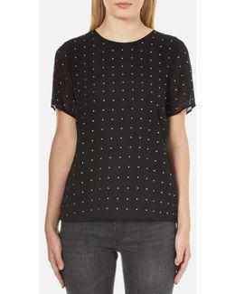 Women's Studded Tshirt