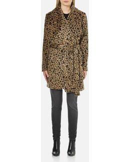 Women's Drape Front Wrap Coat