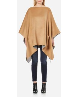 Women's Double Faced Poncho
