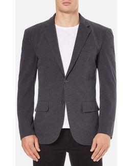 Men's Jersey Buttoned Blazer