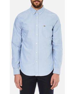 Men's Oxford Button Down Pocket Shirt