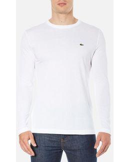 Men's Long Sleeved Crew Neck Tshirt