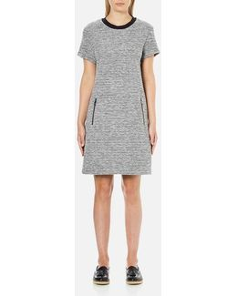 Women's Bonded Tweed Jersey Dress