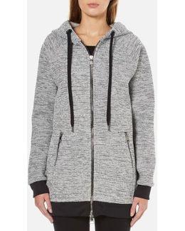Bonded Tweed Jersey Hoody