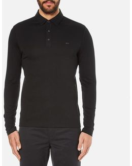 Men's Long Sleeve Sleek Mk Polo Top