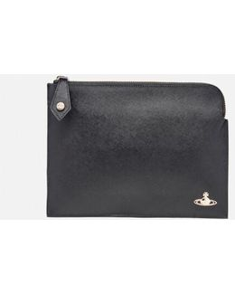 Women's Opio Saffiano Small Clutch Bag