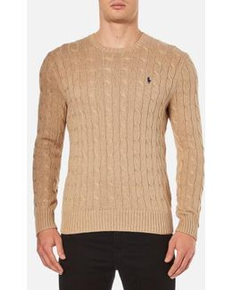 Men's Crew Neck Cable Knitted Jumper
