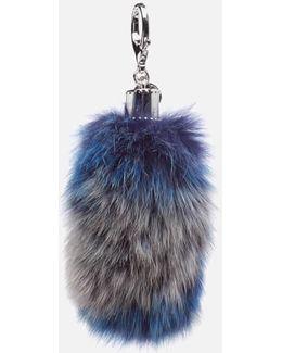 Women's Fox Tail Bag Charm