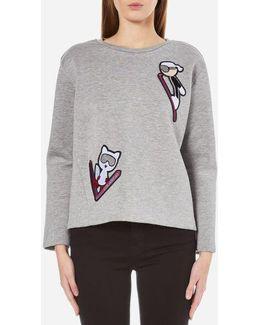 Women's Karl Ski Patches Sweatshirt