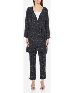 Women's Rosemont Crepe Dotted Kimono
