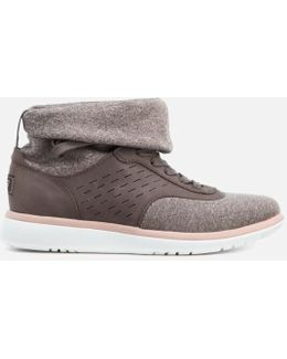 Women's Islay Treadlite Knit Slouchy Collar Hitop Trainers