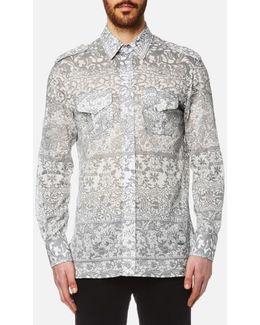 Men's Printed Mussola Military Shirt