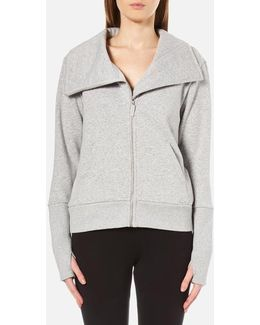 Women's Pauline Double Knit Fleece Cowl Neck Zip Through Jacket