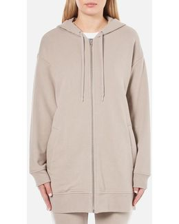 Women's Soft French Terry Long Zip Up Hoody