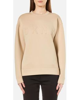 Women's Long Sleeve Pullover With Front Logo