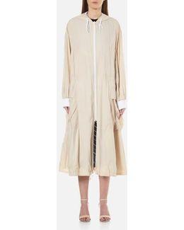 Women's Pure Reversible Oversized Hooded Coat