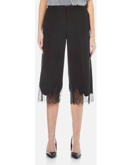 Women's Lace Combo Gaucho Trousers