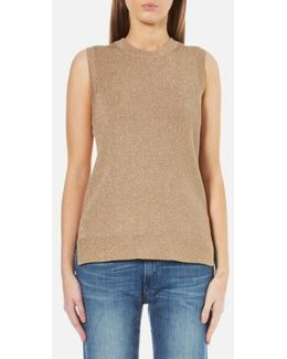 Women's Metallic Sleeveless Jumper