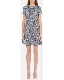 Women's Tapestry Flounce Dress