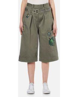 Women's Long Cargo Shorts