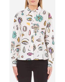 Women's Eye Print Shirt