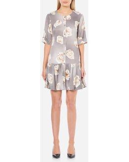 Women's Rose Print Dress