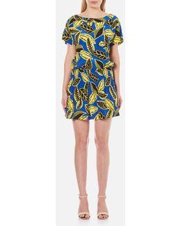 Women's Short Sleeved Printed Dress