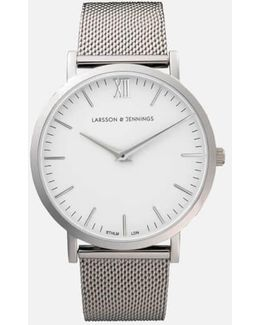 Lugano 40mm Silver Stainless Steel Metal Watch