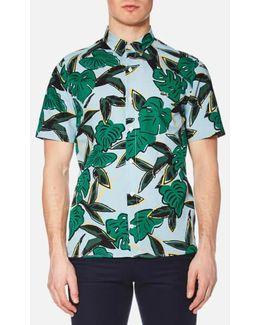 Men's Graphic Print Short Sleeve Shirt