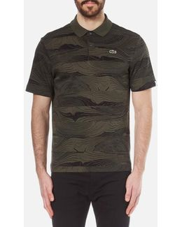 Men's Graphic Printed Polo Shirt