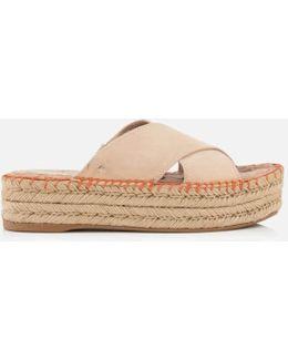 Women's Natty Suede Espadrille Flatform Sandals