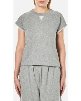 Women's Soft French Terry Cap Sleeve Raglan Sweatshirt