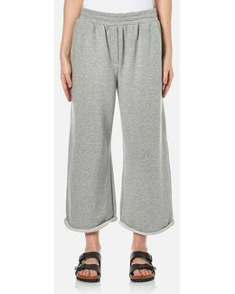 Women's Soft French Terry Cropped Leg Sweatpants